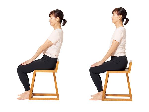 座るときに骨盤の歪みを取る体操