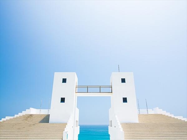 新島の羽伏浦海岸のメインゲート