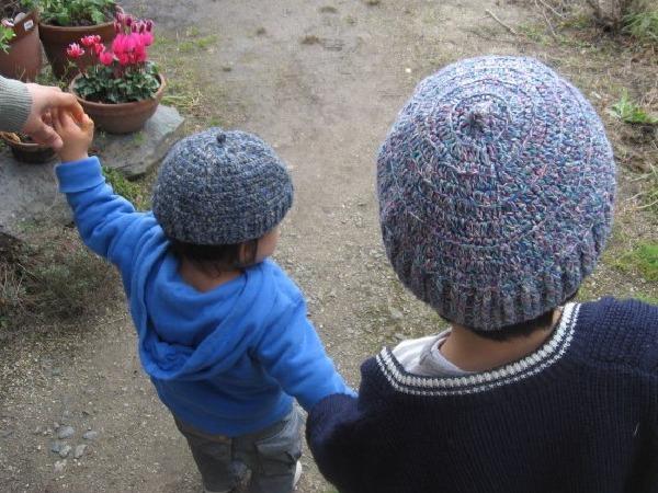 自分のためのスヌード、孫に毛糸の帽子を編む!