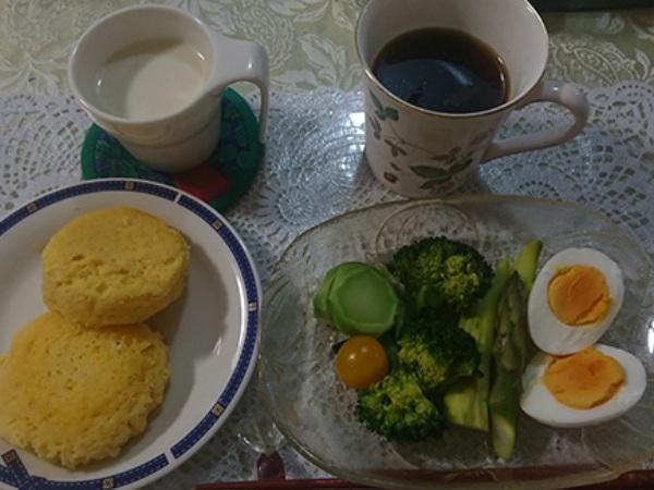 糖質オフの朝食