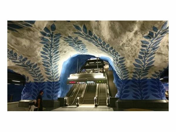 スウェーデンのT-セントラルレン駅。