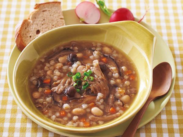 そばの実を食べられるスープ
