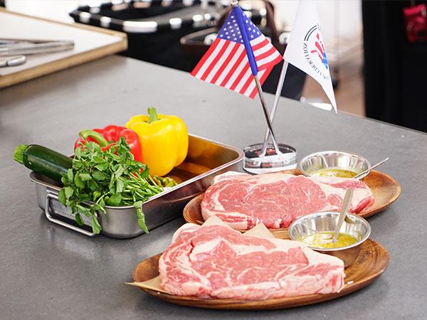 アメリカン・ビーフとポークのかたまり肉