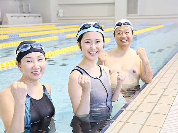 泳ぎに初挑戦
